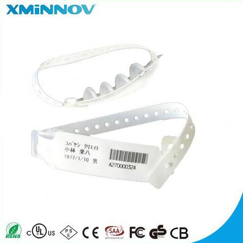 RFID UHF Flexible Paper Wristband Tag With One Time Use Disposable Waterproof