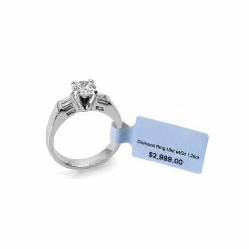 HF NFC Jewelry Tag Aluminum Tamper Proof Label