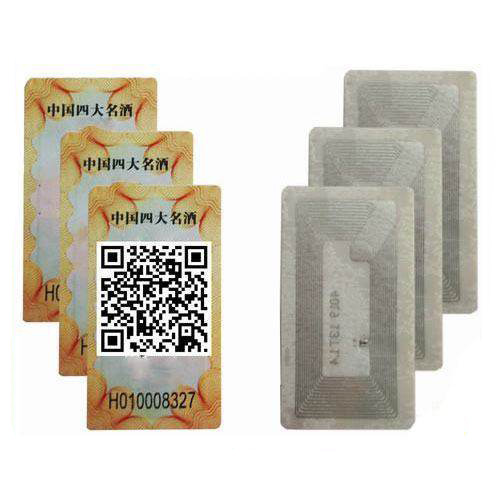 HY130030E HF Tamper Alcohol Spirit Wine Label Tag