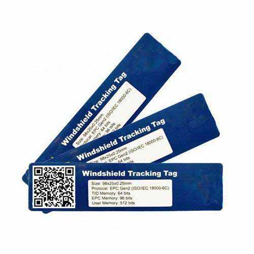 UHF anti tear vehicle parking control label sticker