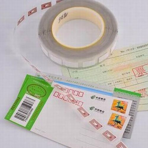 RFID HF brittle security tag for Electronic Anti-counterfeiting Invoice certificate