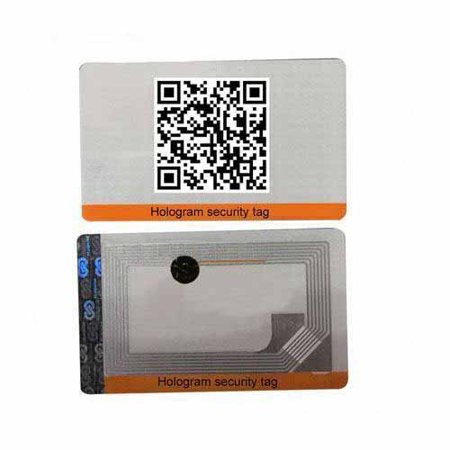 NFC hologram security fuel sticker label