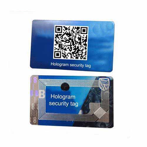 NFC laser hologram security tag for payment