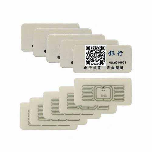 RFID Bank Security Non transferable RFID Inspection Tag
