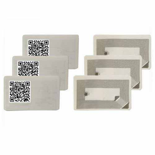 HY130171A QR code HF RFID waterproof barcode serial Brittle tag