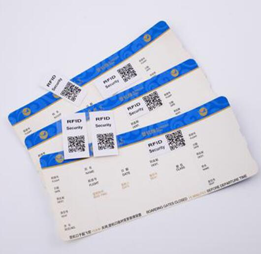 RFID Anti-counterfeiting Security Airline Boarding Ticket