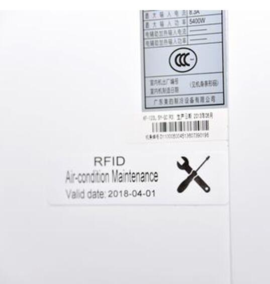 UHF air conditioner rfid guarantee warranty tags