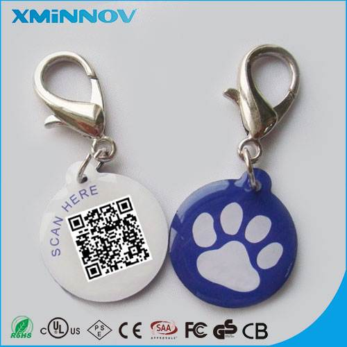 NFC Pet Necklace QR Code Animal Rescue Hanging drop Tag
