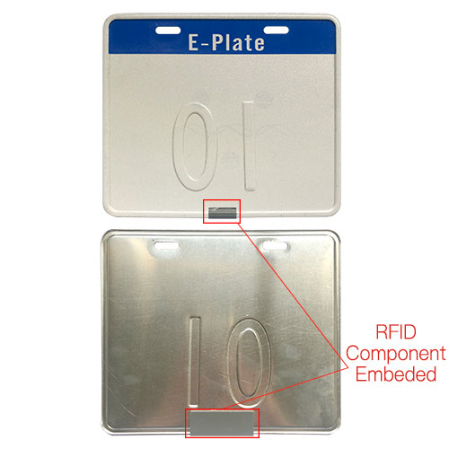 RFID UHF Motorcycle License E-Plate